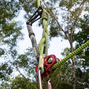 รอกเดี่ยวสำหรับงานปีนต้นไม้ ISC Phlotich สำหรับใช้ต่อคาราบิเนอร์และเชือกพรูสิค ติดตั้งระบบเชือกเส้นเดียว (SRT) และระบบเชือกคู่ (DdRT) ISC