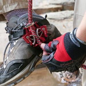 อุปกรณ์ไต่ขึ้นเชือกแบบสวมเท้า Ninja Foot Ascender ใช้สำหรับการทำงานบนที่สูง งานกู้ภัย Rescue งานปีนขึ้นต้นไม้ Rope walking ในการทำงานบนต้นไม้ใหญ่ Harken